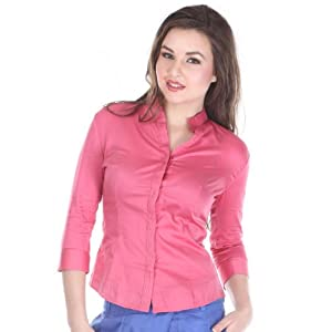 I Know Pink Full Sleeves Cotton Women - Formal Shirts