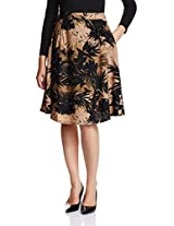 Miss Chase Women's Floral A-Line Skirt