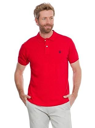 Cortefiel Polo Piqué Básico (Rojo)