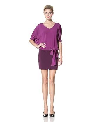 Donna Morgan Women's Colorblock Dress (Orchid/Eggplant)