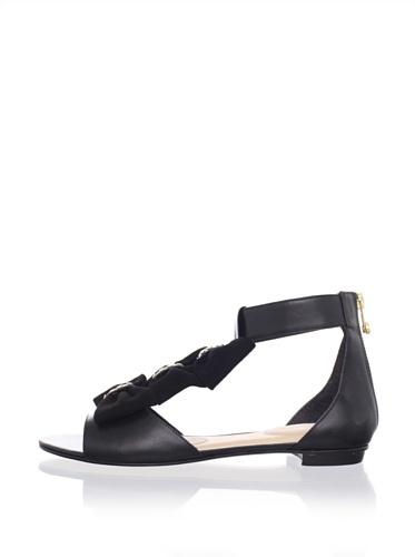 Kat Maconie Women's Audrey Bow Flat Sandal (Black)