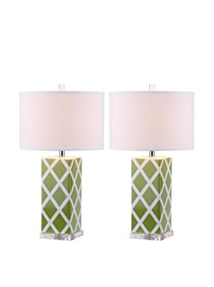Safavieh Set of 2 Garden Lattice Table Lamps