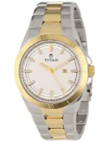 Titan Octane Analog White Dial Men's Watch - NC9381BM01J