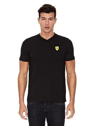 Ferrari Camiseta Santander V-Neck (Negro)