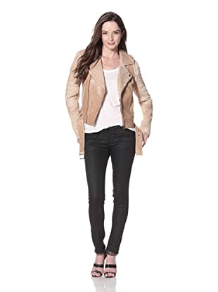 Cote by IMPROVD Women's Kya Leather Motorcycle Jacket (Blush)