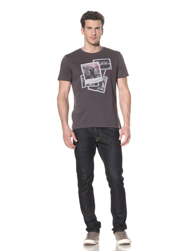 Tee Library Men's Live Dangerously T-Shirt (Dark Grey)