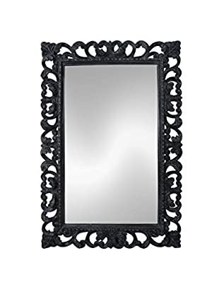 Jeffan Arc Wooden Mirror, Grey Wash