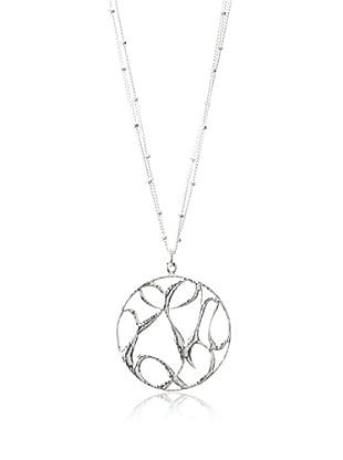 Sophia & Chloe Silver-Tone Peace, Love & Happiness Necklace