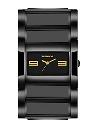 K&BROS 9163-1 / Reloj de Señora  con brazalete metálico negro