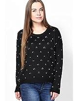 Black Embellished Sweater