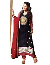 atisundar fair Black Embroidered Anarkali- 4130_39_310