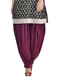 Sohniye Women's Viscose Patiala [GAKP16_Purple_Free Size]