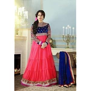 Juhi Chawala In Peach Floor Length Anarkali Suit