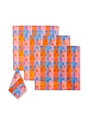 Garnier-Thiebaut Set of 4 Mille Cubes Napkins, Dusk