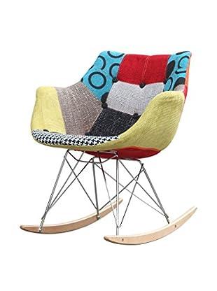 Manhattan Living Ginger Rocker Arm Chair, Multi
