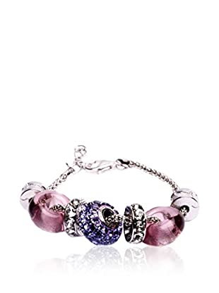 SWAROVSKI ELEMENTS Pulsera Beads Morado