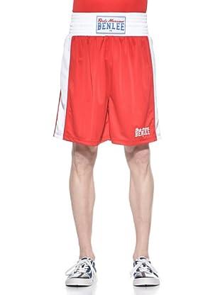 Benlee Shorts Amateur Fight Trunks (Rojo / Blanco)