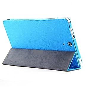 Elite Premium Flip Case Cover for HP Slate 7 Voice Tablet Tab (Blue) (Magnetic Closure)