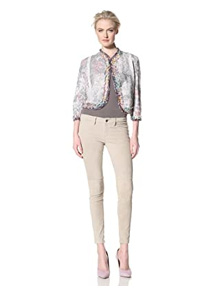 GREGORY PARKINSON Women's Tweed Bias-Cut Jacket (Floral Blush)