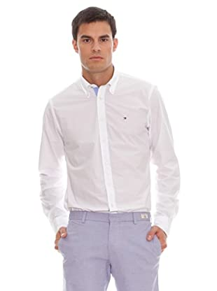 Tommy Hilfiger Camisa Authentic Poplin Cf2 (Blanco)