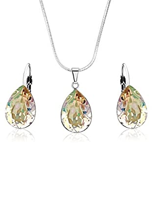 Swarovski Elements by Bohemian Love Story Set gr眉n 42 cm