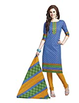 Suhanee Womens Cotton Unstitched Dress Material (Suhanee`S Exclusive Shivanee 1103 _Multi-Coloured)