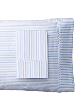 Mélange Home Pair of Shirt Stripe Standard Pillowcases, Blue