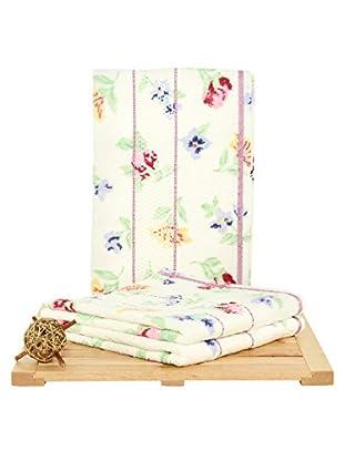 Maisonette Izabel 3-Piece Hand Towel Set, Pink