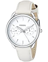 Fossil Womens ES3806 Tailor Stainless Steel Watch with Leather Band