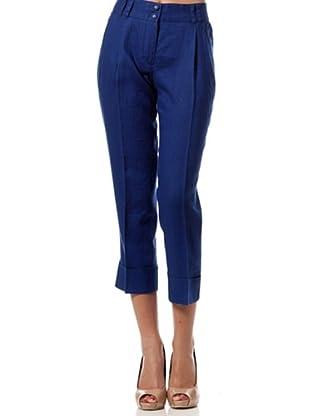 Caramelo Pantalón Vestir (Azul)