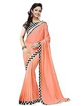 Shree Sanskruti Women's Georgette Sari