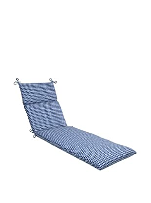 Pillow Perfect Outdoor Seeing Spots Chaise Lounge Cushion, Navy
