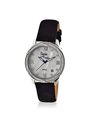 Sophie and Freda Women's SAFSF2001 Los Angeles Black/White Leather Watch