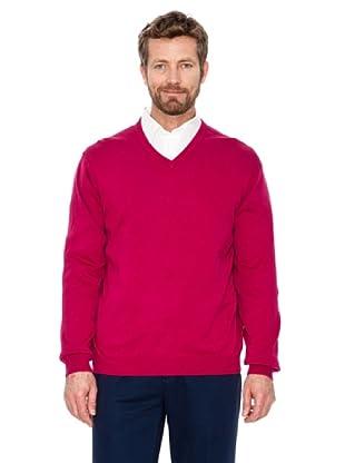Cortefiel Pullover V-Ausschnitt (Erdbeere)