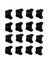 New Set of 16 Steel Black Cabinet Speaker Two Leg Corners C203B