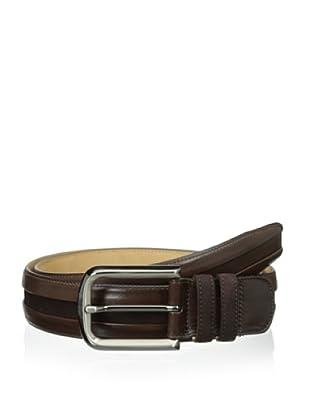 Mezlan Men's Calf and Suede Belt (Brown)