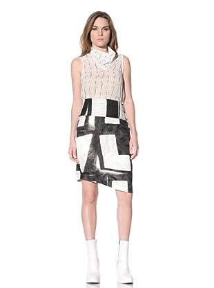 Ann Demeulemeester Women's Asymmetrical Double-Button Skirt (Black)