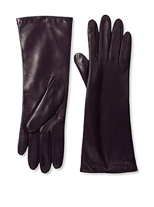 Portolano Women's Cashmere Lined Leather Gloves (Aubergine)