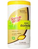 Scotch-Brite Botanical Disinfecting Wipes DW-L75-A6, 1-Count, 75 Wipes
