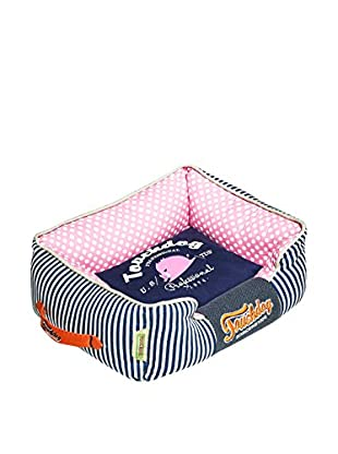 Touchdog Polka-Striped Polo Easy Wash Rectangular Dog Bed