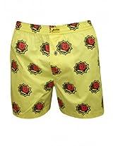 Bushirt Mens Yellow Boxer Shorts