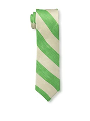 Gitman Brothers Men's Woven Stripe Tie, Green