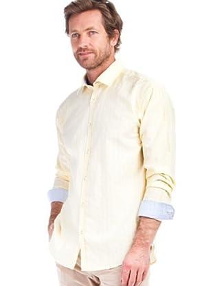 Cortefiel Camisa Rayas (amarillo / blanco)