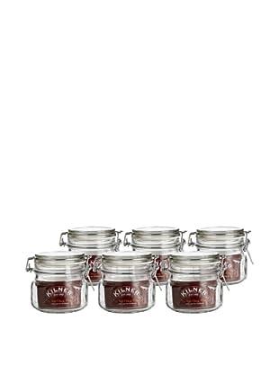 Kilner Set of 6 Clip Top .5 Liter/17 fl oz. Square Jars