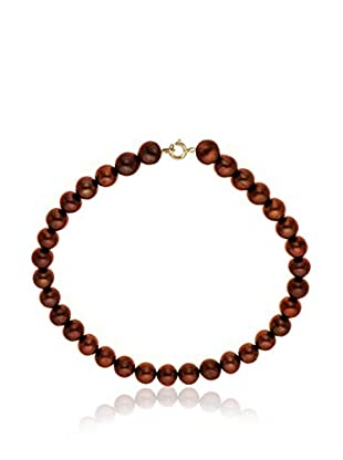 Compagnie générale des perles Braccialetto Rosso Scuro