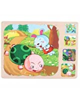 Baby Kid Multi Layer Puzzle Toys Puzzle Wooden Puzzle Three Dimensional Wool Toy