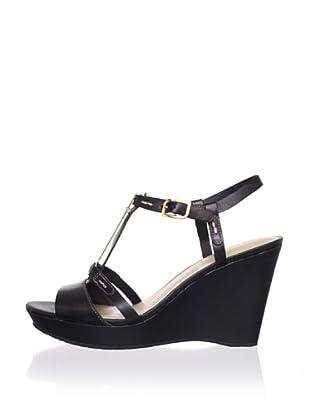 Rockport Women's Locklyn Pendant Wedge Sandal (Black)