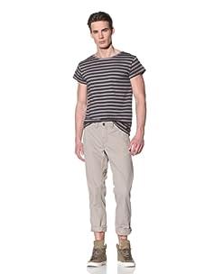 Antony Morato Men's Dip-Dye Stripe Tee (Light Grey)