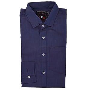 Mazel Tov Mens Dark Sky Blue 100% Cotton Shirt_M