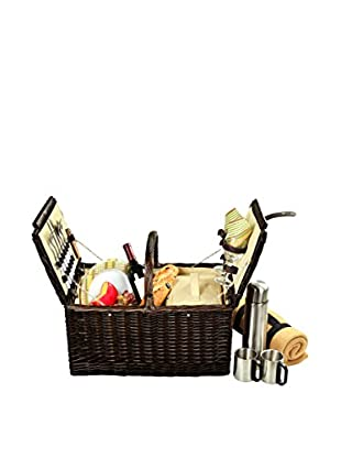 Picnic At Ascot Surrey Basket For 2 with Blanket and Coffee, Hamptons